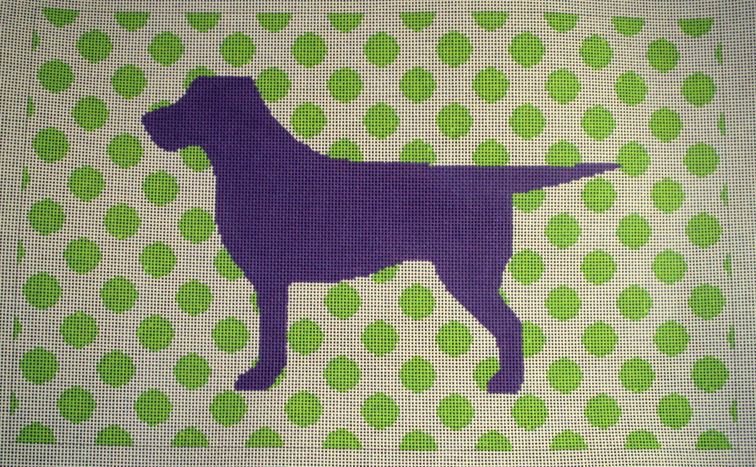 Susan Battle Needlepoint Mod Labrador Canvas