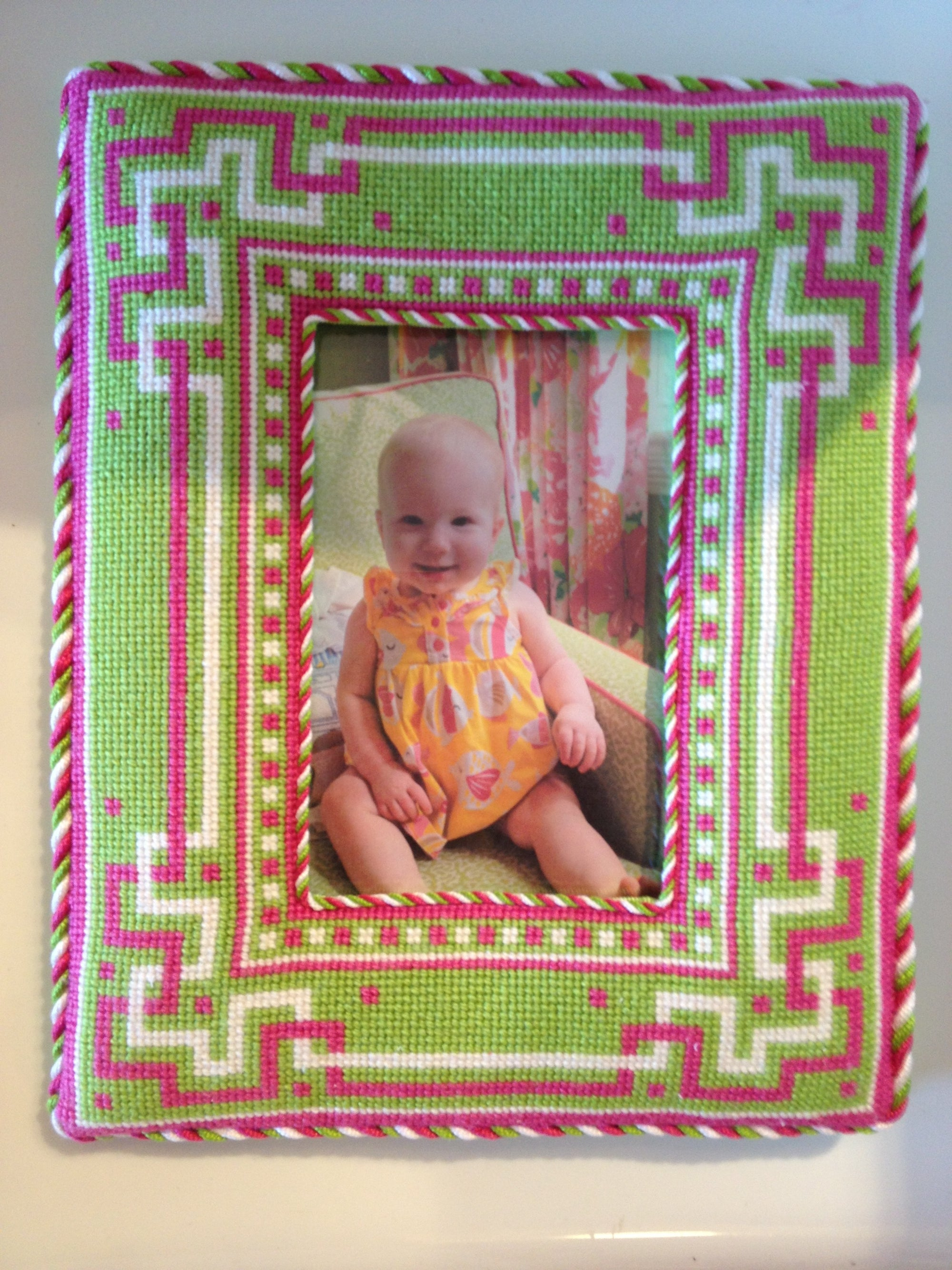 Susan Battle Needlepoint Picture Frame