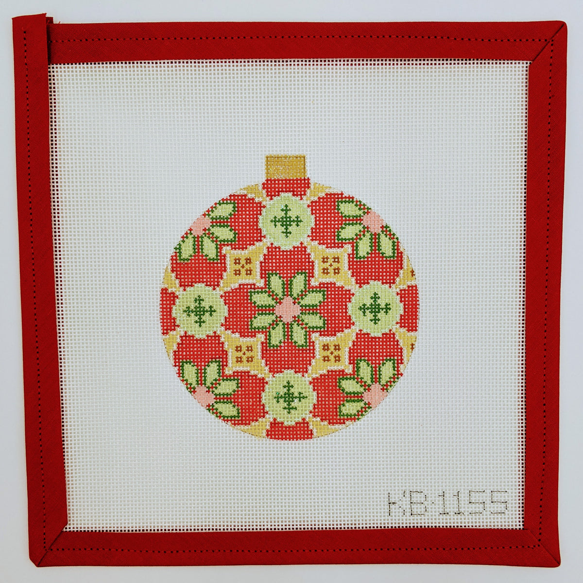 Florentine Ornament Sage & Red