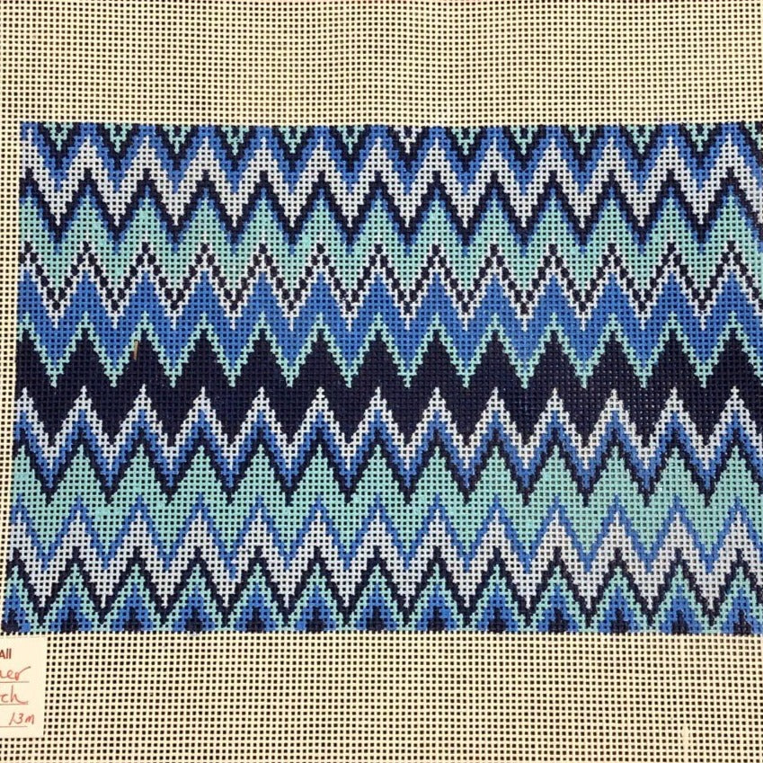 Blue Zig Zag Clutch or Pillow