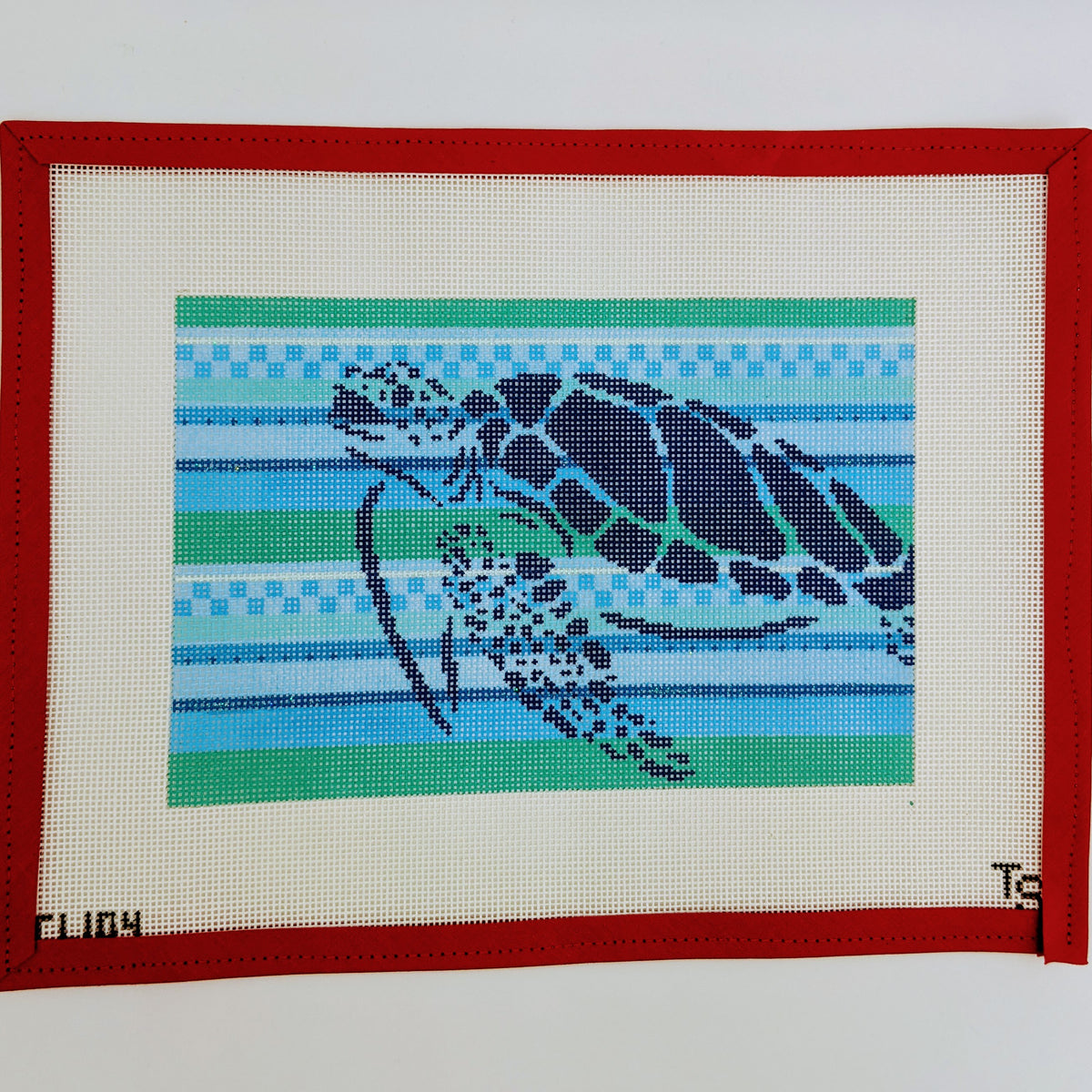 Turtle Stencil with Stripes
