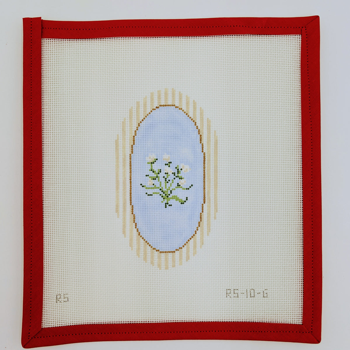 Camellia with Striped Frame