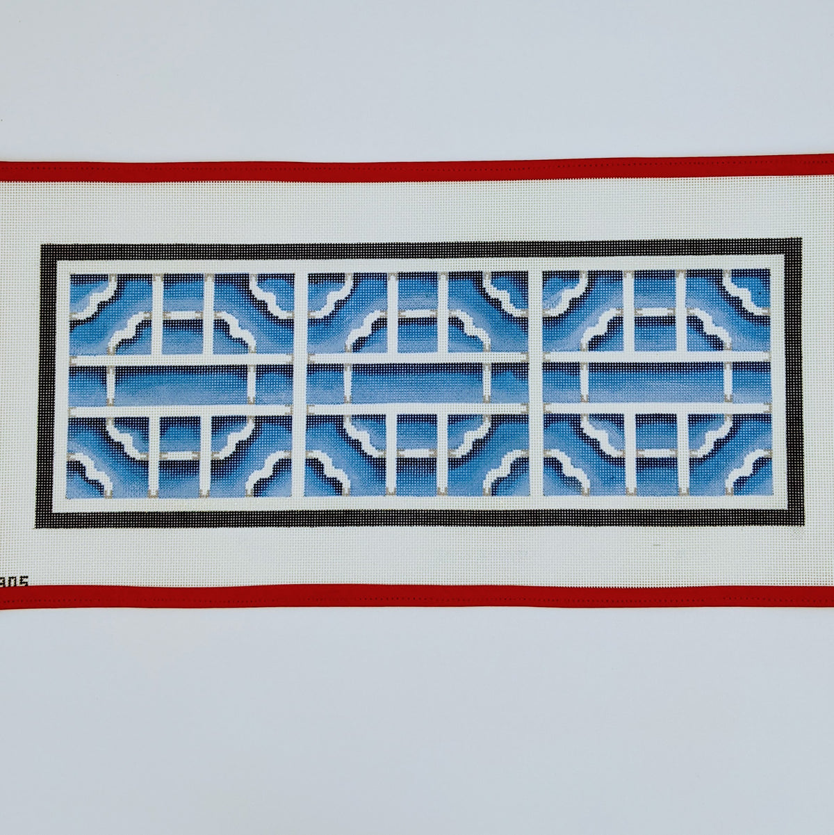 Lattice Frieze (Blue & White)