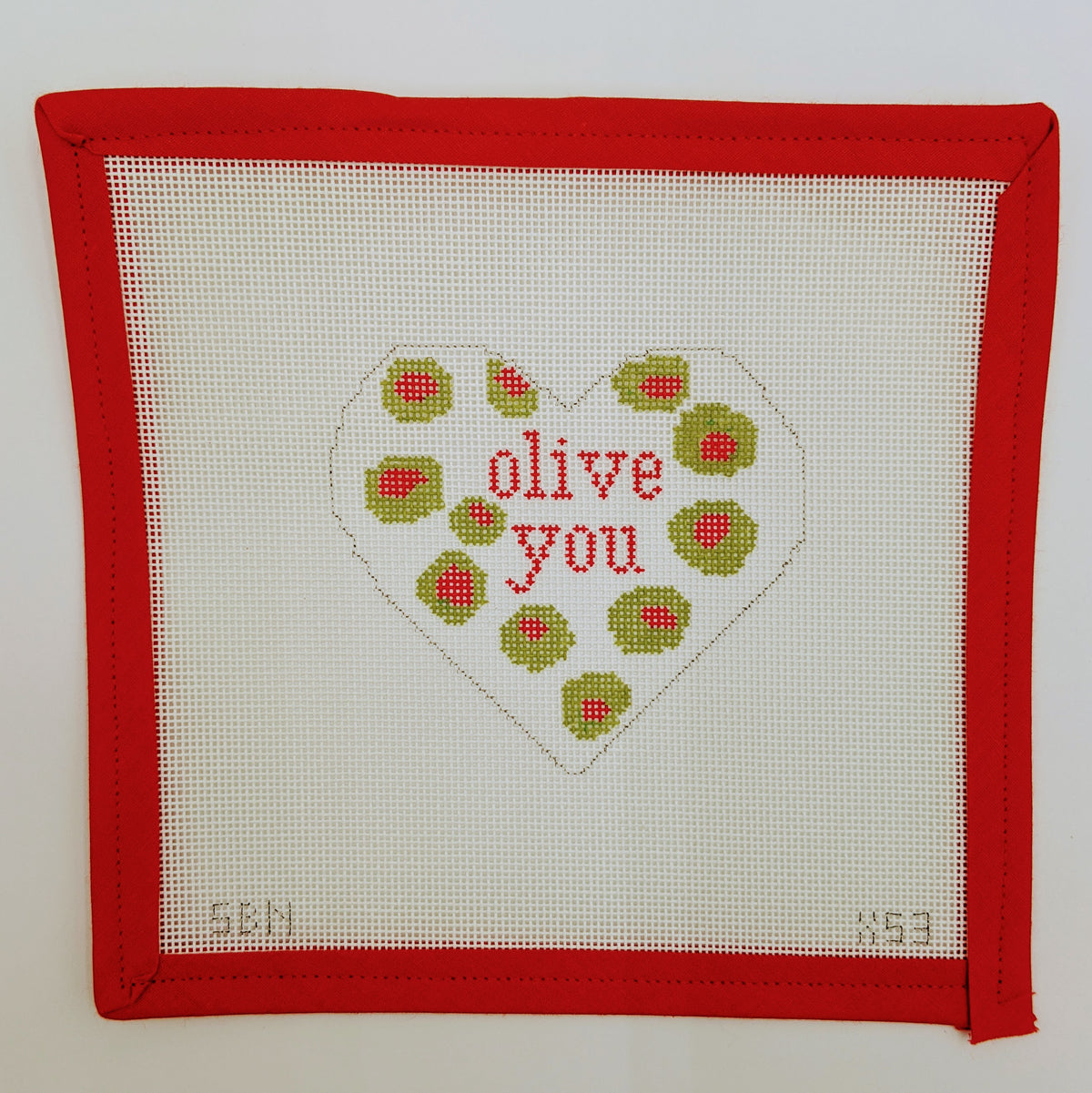 Olive You Heart ornament