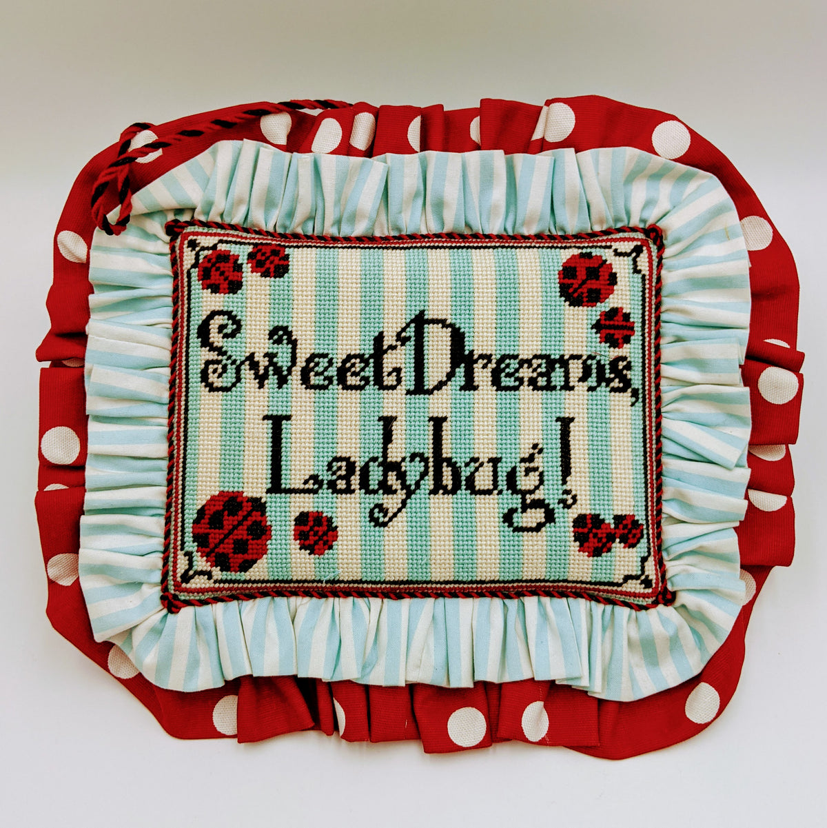 Sweet Dreams Ladybug Sign on 13 mesh