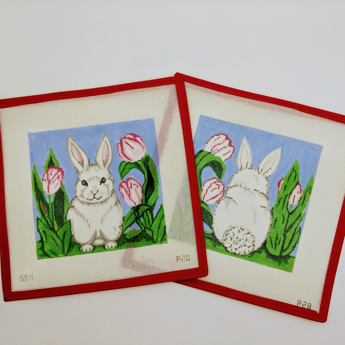 2 Part Bunny Pillow (front and back view)