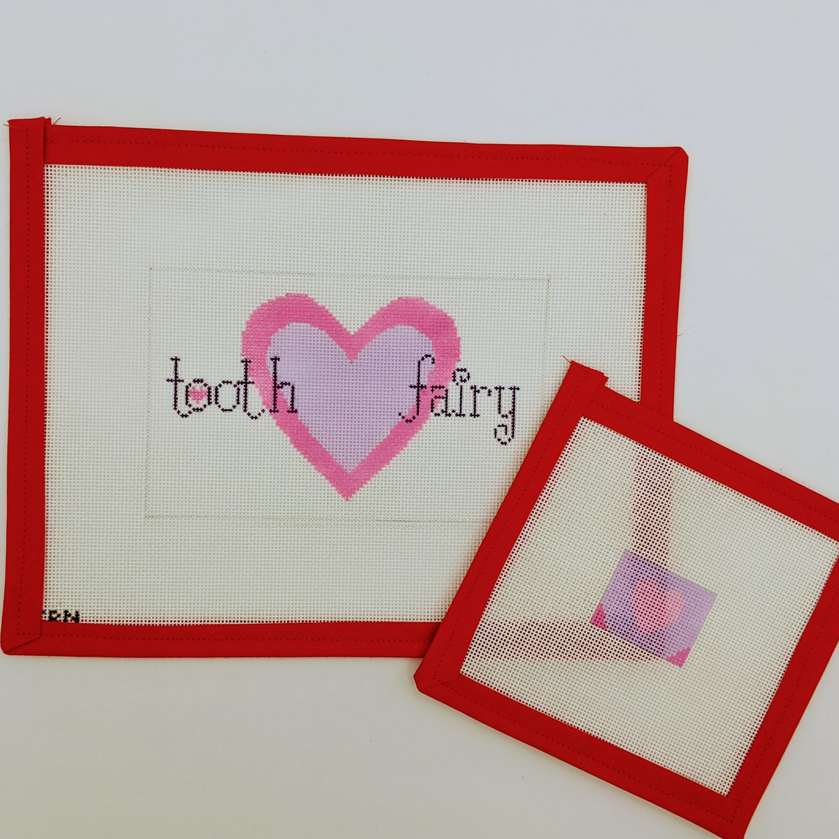 Hearts Tooth Fairy Pillow on 18 mesh