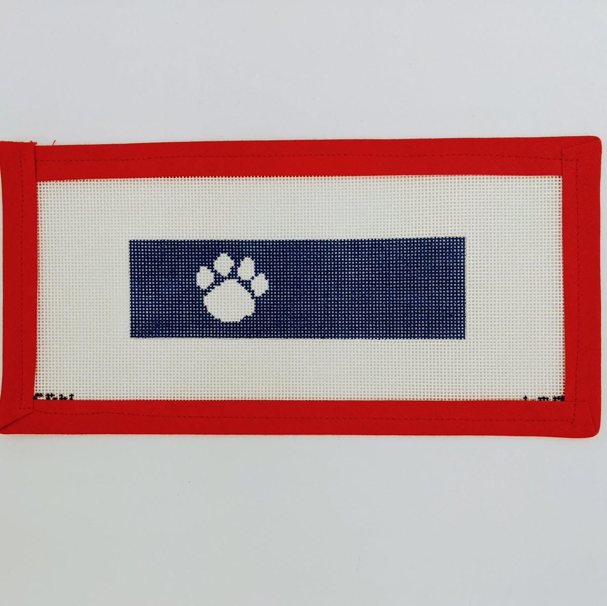 Paw Print Key Fob on 18 Mesh