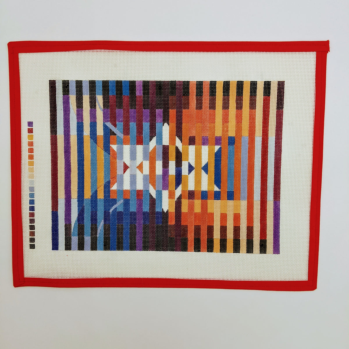 Star of David on Colorful Stripes