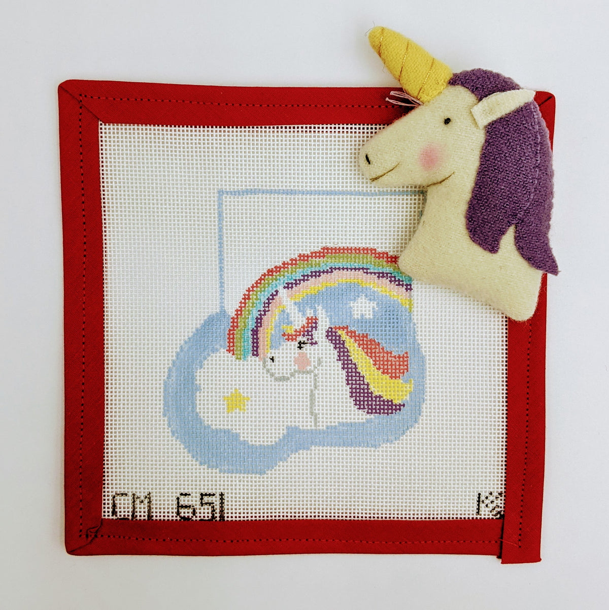 Unicorn and Rainbow Mini Stocking with stuffie insert