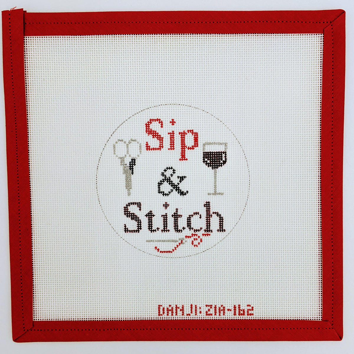 Sip & Stitch (Red Wine)