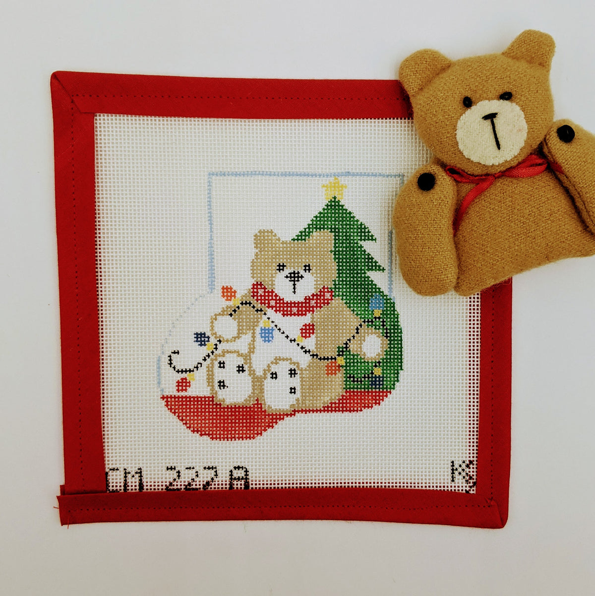 Teddy Bear Mini Stocking  with stuffie insert
