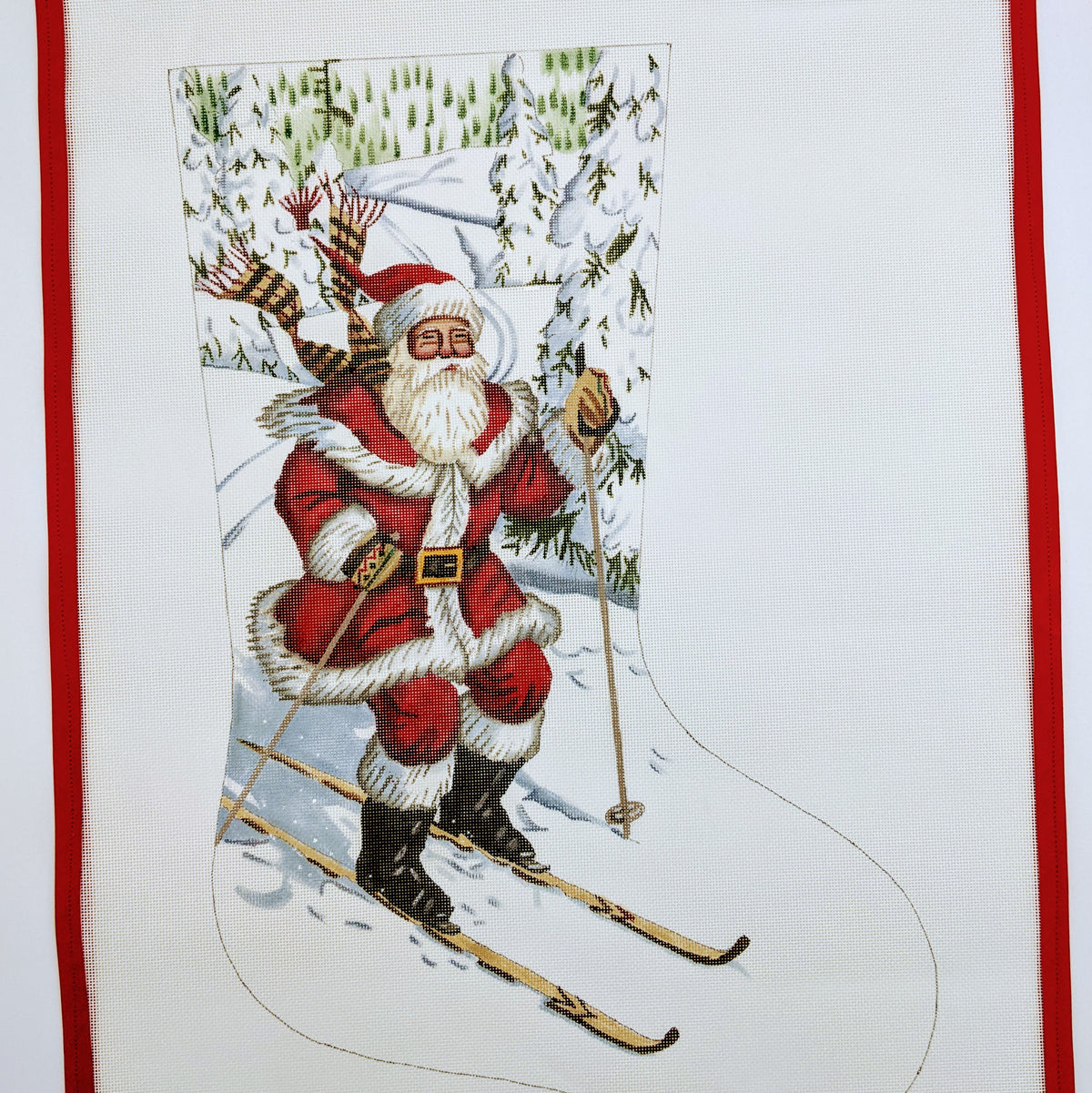 Santa Skier Stocking