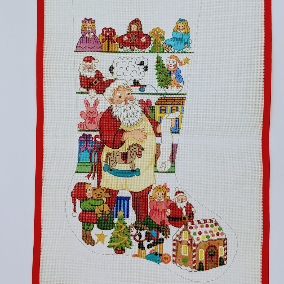 Santa & Toys Christmas Stocking (girl version)
