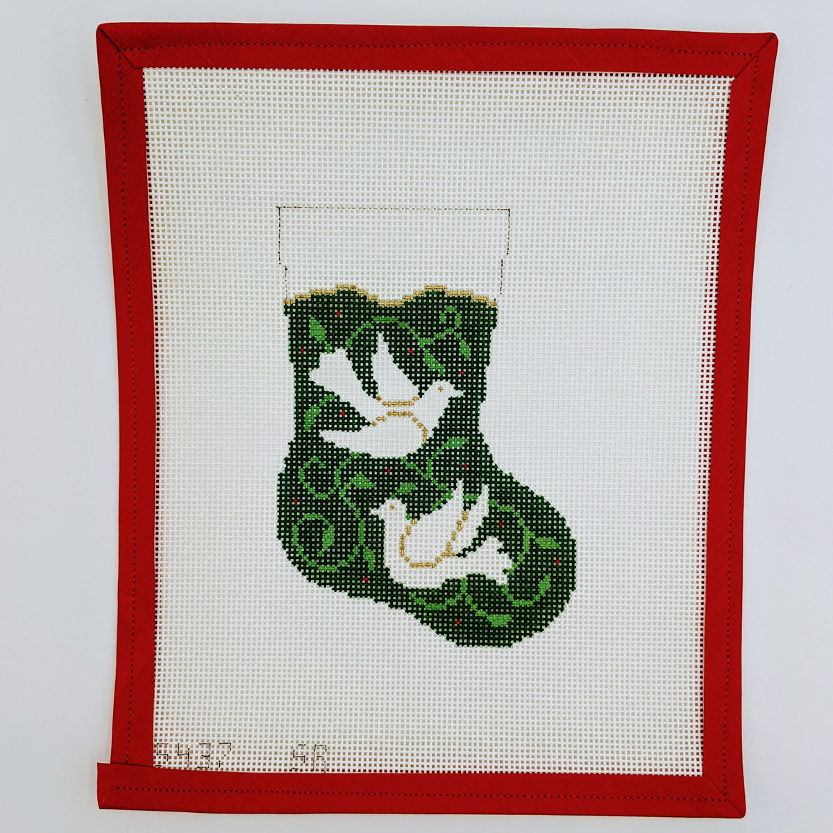 Doves Mini Stocking on 13 mesh