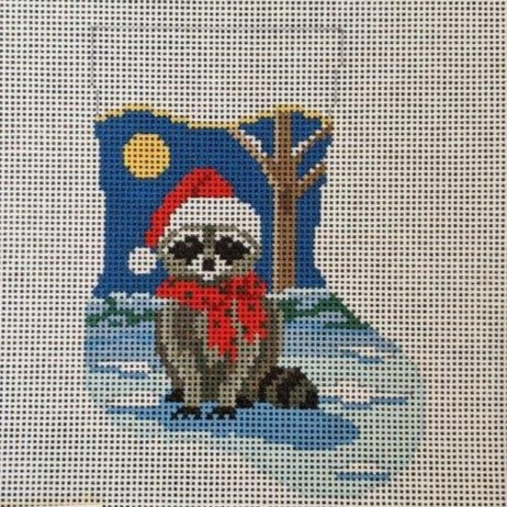 Racoon Mini Stocking on 13 mesh