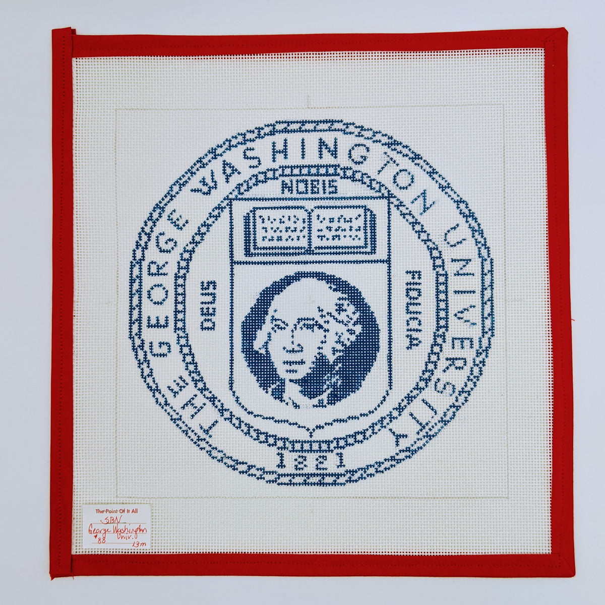 George Washington University seal (blue & white)