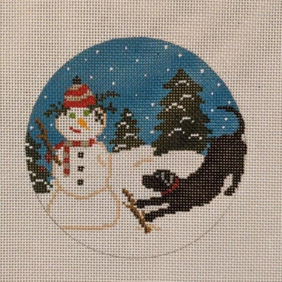 Snowman & Dog Ornament