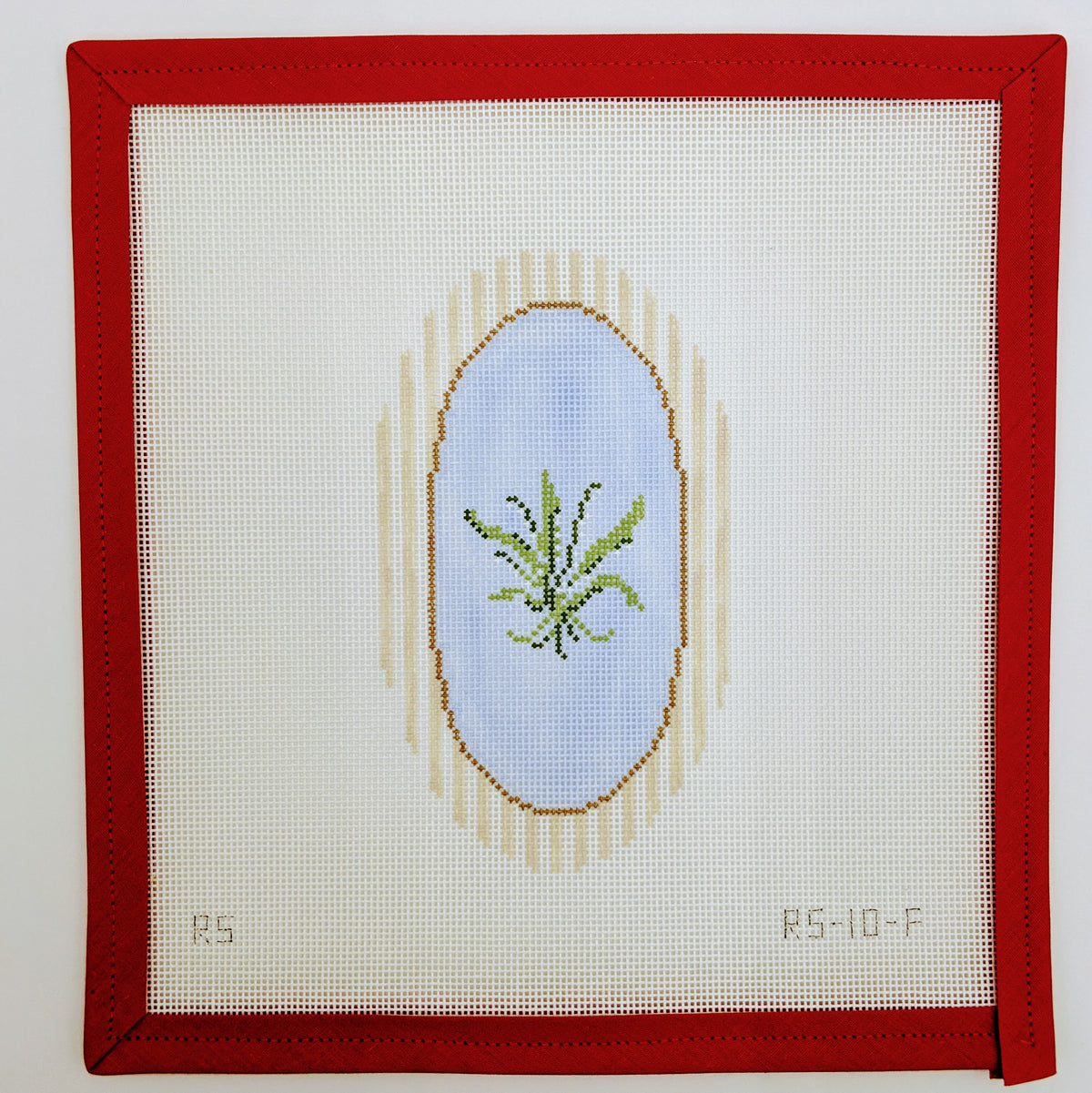 Lily of the Valley on Striped Frame