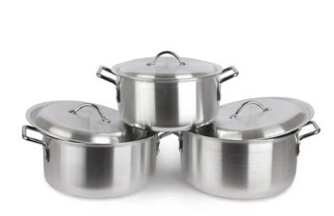 Aluminium Stock Pot Soup Pan 3 PCs Saucepan
