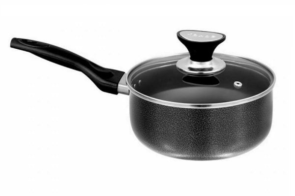 Non Stick Sauce Pot With Glass Lid Cooking Sauce Pan Stock Pot For Tea Milk