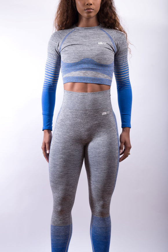 Motivated Long Sleeve Crop Top Set
