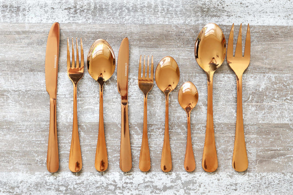 qTableware Rose Gold Cutlery Family