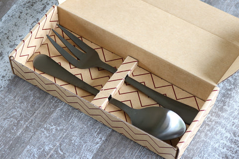 Classic 2 Piece Salad/Serving Set Matte Black