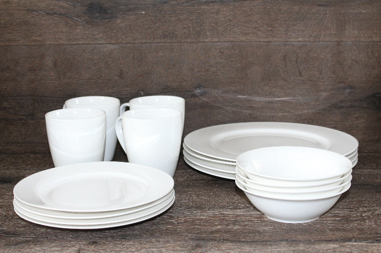 White Round Dinner Set 16 pcs