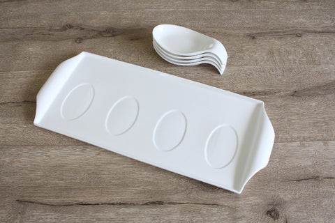 Fish Saucer Set with Tray