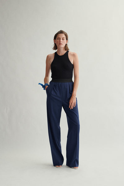Responsible Wool High Waisted Wide Leg Pant