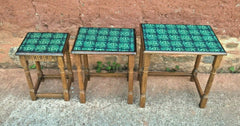 Vintage Oak Nest Of Tables.....Upcycled Cofee Tables