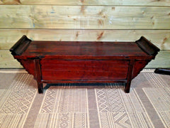 365.....Gorgeous Small Oriental Altar Table.....Carved Oriental Stand