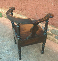 Gorgeous Antique Carved Oak Corner Chair
