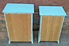288.....Two Upcycled Bedside Cabinets / Matched Pair Of Bedside Cupboards