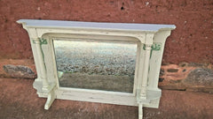 285.....Art Nouveau Overmantel Mirror / Carved Frame Mirror