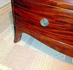 Fabulous Regency Bow Front Mahogany Chest Of Drawers