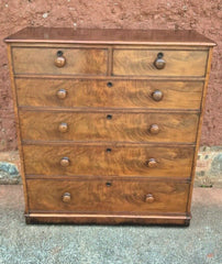 316.....Good Quality Flame Mahogany Chest Antique Chest Drawers
