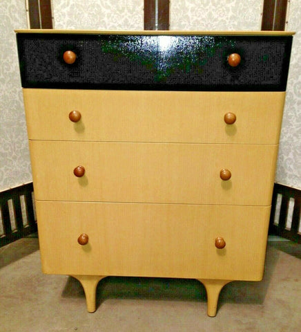 369.....Vintage Chest Of Drawers...1950'S Retro Chest