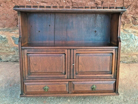 330.....Arts And Crafts Antique Wall Cabinet / Antique Walnut Wall Cabinet