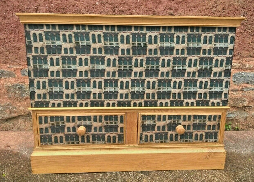 315.....Upcycled Pine Storage Chest With Two Drawers