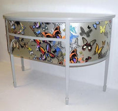 UNUSUAL EDWARDIAN UPCYCLED BOWFRONT SIDEBOARD SALE PRICE !