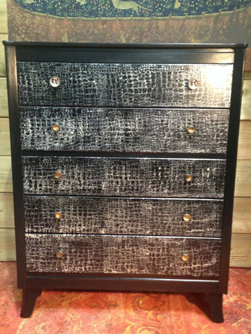 240.....Stunning Upcycled Retro Chest Of Drawers / Lebus Chest