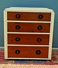201.....Upcycled Art Deco Style Chest Of Drawers / Art Deco Chest ( SOLD )
