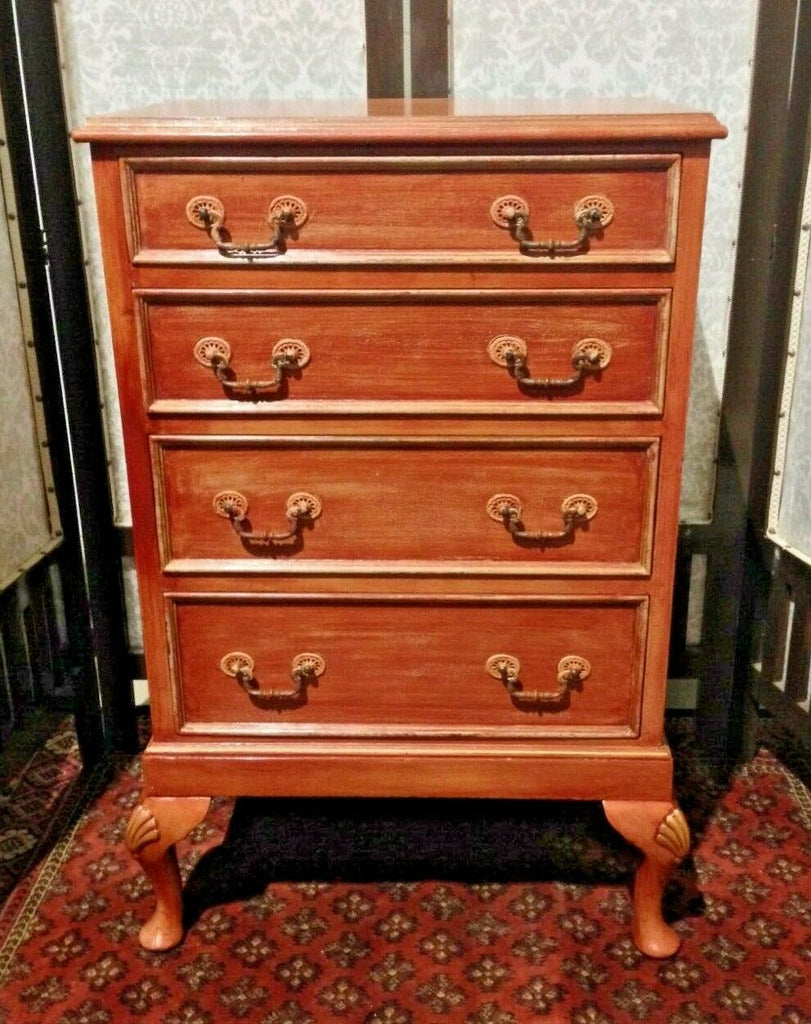 385.......Vintage Upcycled Chest Of Drawers / Tallboy Chest ( SOLD )