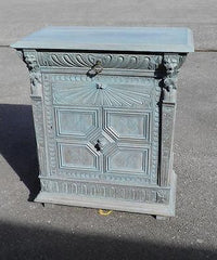 LATE 19th CENTURY CARVED OAK CUPBOARD / CABINET