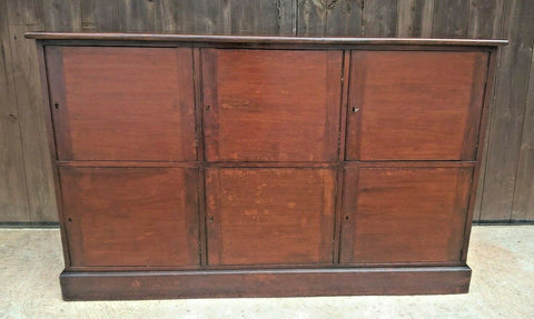 329.....Antique Bank Of Cupboards Or Mahogany Lockers