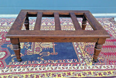 215....Antique Oak Luggage Stand / Antique Luggage Rack....SOLD !