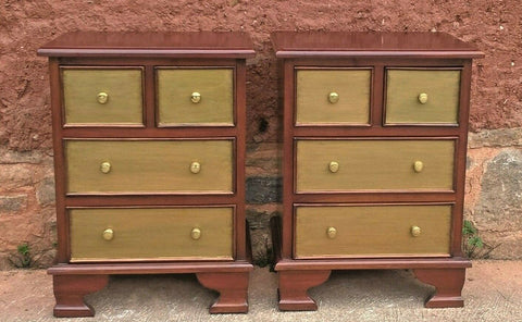 357.....Pair Of Mahogany Bedside Chests Vintage Bedside Tables