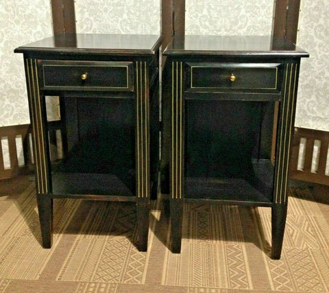 377.....A Pair Of Vintage Empire Style Bedside Tables / Pair Of Lamp Tables